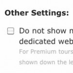Here's where you can hide the other tours, just mark the checkbox.